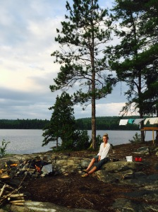 campsite on kukagami in my cool, ripped, huckleberry finn shirt